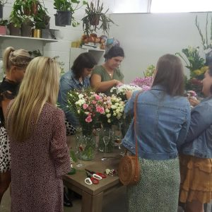 Bendigo Hens Party flower crown workshop